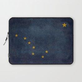 Alaskan State Flag, Distressed worn style Laptop Sleeve