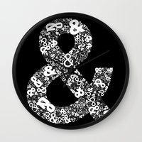 helvetica Wall Clocks featuring Helvetica Ampersand by Phillip Kauffman