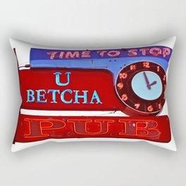 U Betcha Pub sign Rectangular Pillow