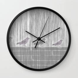 FIVE LITTLE BIRDS Wall Clock