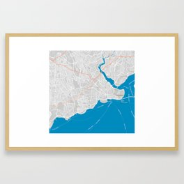 Minimalist Modern Map of Istanbul, Turkey 3 Framed Art Print