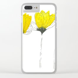 Three tiny little flowers Clear iPhone Case