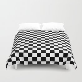 Black Checkerboard Pattern Duvet Cover