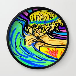 Angel surfer Wall Clock