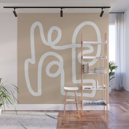 beige squiggle Wall Mural