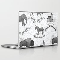 political Laptop & iPad Skins featuring Political Toile by Jessica Roux