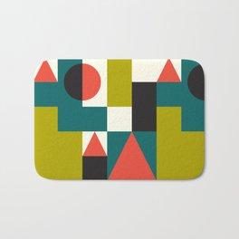 Mid-century Pattern 107 (blocks) Bath Mat