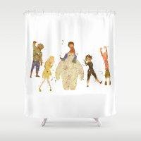 big hero 6 Shower Curtains featuring Big Hero 6 Disneys by Carma Zoe