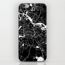 Amsterdam Black on White Street Map iPhone Skin