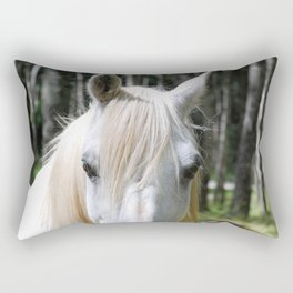 White Horse Rectangular Pillow