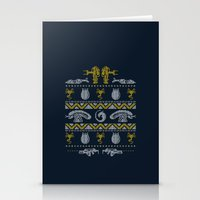 xenomorph Stationery Cards featuring A Christmas Bug Hunt by Stationjack