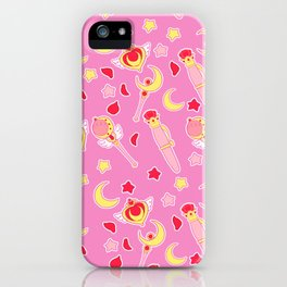 Sailor Moonie on Pink iPhone Case