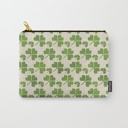 Irish Shamrock clover  pattern Carry-All Pouch