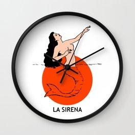 La Sirena Loteria Card: Color Variation Wall Clock