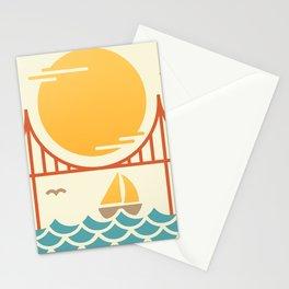 San Francisco Golden Gate Bridge Illustration Stationery Cards