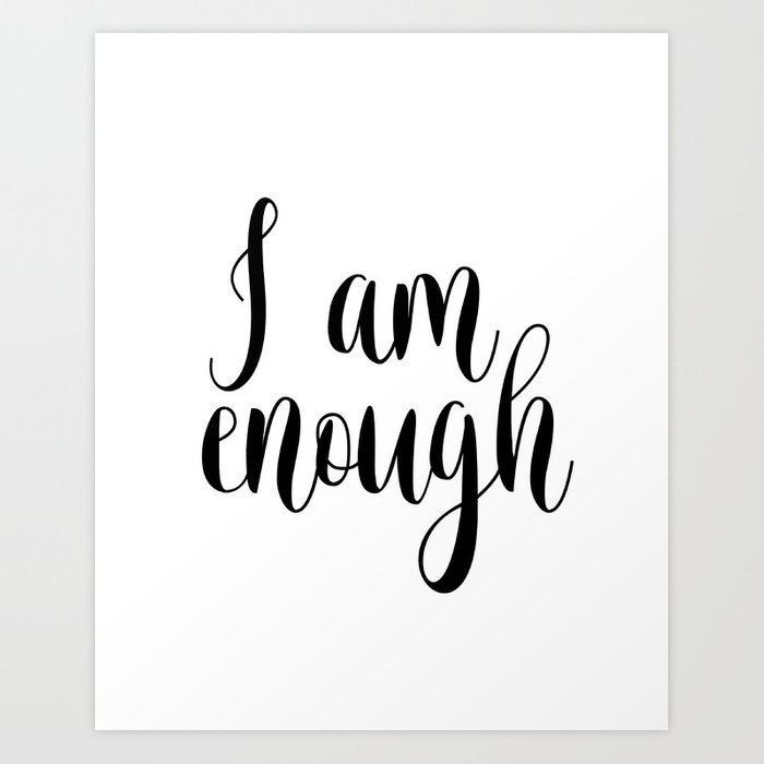 image relating to Printable Poster named Inspirational Quotation, I Am Ample, House Decor, Typography Print, Printable Poster Artwork Print through nathanmoore209
