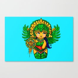 Warrior Princess Kokeshi Canvas Print