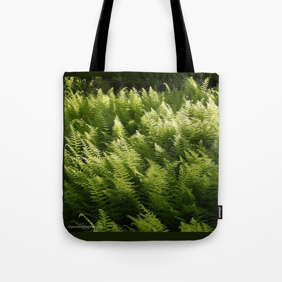 Light Magic in the Green Ferns Tote Bag