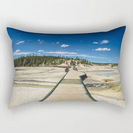 Norris Geyser Basin, Yellowstone National Park Rectangular Pillow