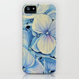 Blue Hydrangea - Each Day I Love You More - By HSIN LIN iPhone Case