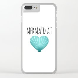 Mermaid At Heart  |  Teal Clear iPhone Case