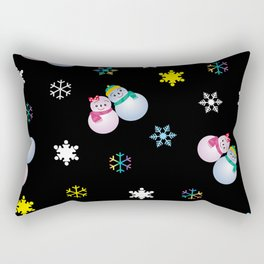 Snowflakes & Pair Snowman_E Rectangular Pillow