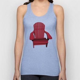 Sit back and relax in the Muskoka Chair Unisex Tank Top