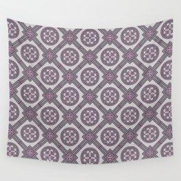 Flourishing Heart Abstract Seamless Pattern Wall Tapestry