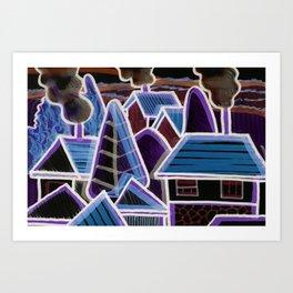 Color Landscape at Night | Piliscsév, Hungary Art Print