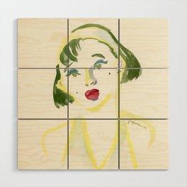 A Girl Wood Wall Art