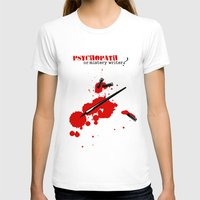 writer T-shirts featuring Psychopath or mystery writer? by yokana