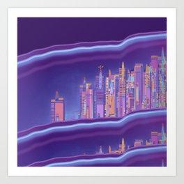 Saturnian Ultraviolet Wave Two Art Print