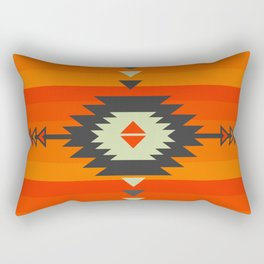 Southwestern in orange and red Rectangular Pillow