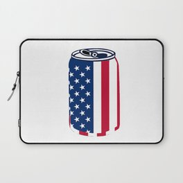 American Beer Can Flag Laptop Sleeve