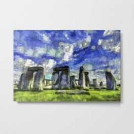 Stonehenge Vincent Van Gogh Metal Print