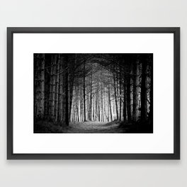 the way to the light Framed Art Print