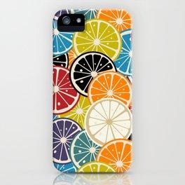 Lemon slice colored pattern iPhone Case