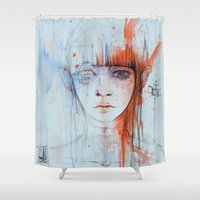 persona Shower Curtains featuring Persona sin fin by DizzyNicky
