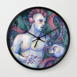 Keeper Of The Abyss Wall Clock