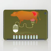cow iPad Cases featuring Cow by Mira Maijala
