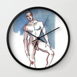 JEFFERY, Nude Male by Frank-Joseph Wall Clock