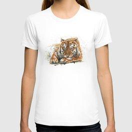 Watercolor tiger portrait painting hand drawn illustration T-shirt