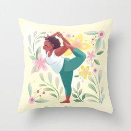 Happy Yoga Time Throw Pillow