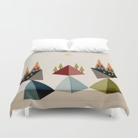 rocky Duvet Covers featuring Rocky Path by Tammy Kushnir