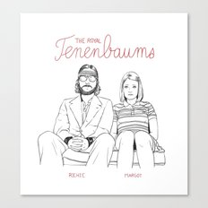 The Royal Tenenbaums (Richie and Margot) Canvas Print
