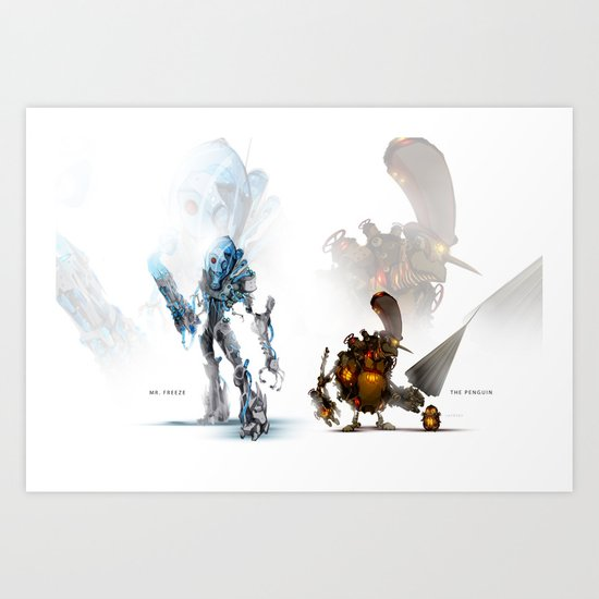 Gotham Gears: Penguin & Freeze Art Print