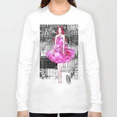 My rose dress fashion illustration concept. Long Sleeve T-shirt