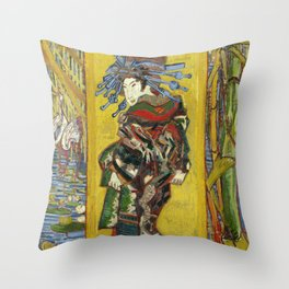 "Vincent van Gogh ""The Courtesan (after Eisen)"" Throw Pillow"