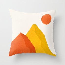 Mountains & Mountains II Throw Pillow