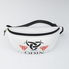 Odin- The graphic is a symbol of the horns of Odin, a satanist symbol Fanny Pack